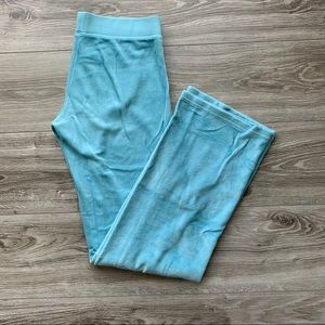 JUICY COUTURE Velour Pants Light Blue Size Small